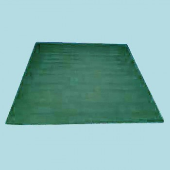 <PRE>Rectangular Area Rug 5' x 3' Green Cotton </PRE>