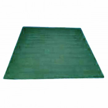 Rectangular Area Rug 5' x 3' Green Cotton 64380grid