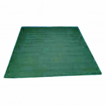 Rectangular Area Rug 6' x 4' Green Cotton 64381grid