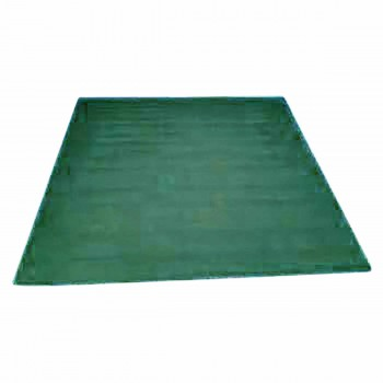 Hooked Rug Green Cotton 6 x 9