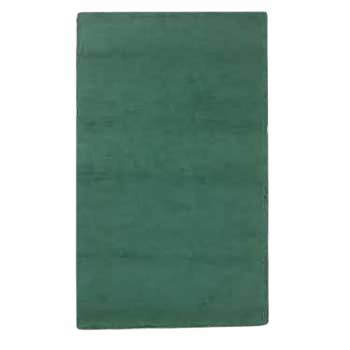 Hooked Rug Runner Green Cotton 30 x 96