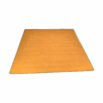 Rectangular Area Rug 6' x 4' Yellow Cotton 64385grid