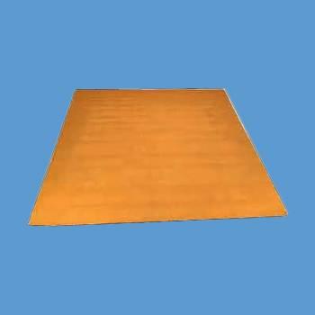 spec-<PRE>Rectangular Area Rug 9' x 6' Yellow Cotton </PRE>
