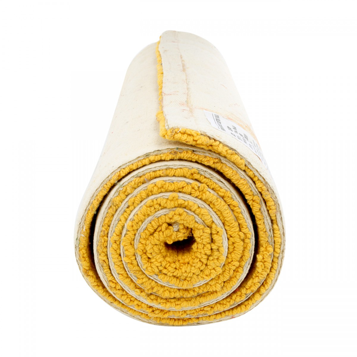 Carpet Runner Yellow 100% Cotton Hooked Rug 30 x 96 Carpet Runner Area Rug Accent Rugs