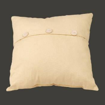 <PRE>Chamois Cotton Button Pillow 17inch Yellow Square </PRE>zoom2