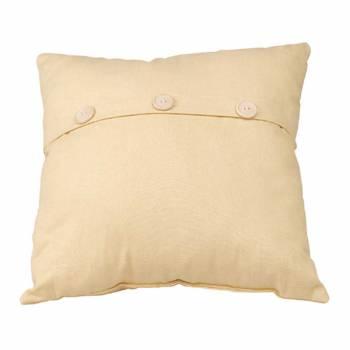 Chamois Cotton Button Pillow 17