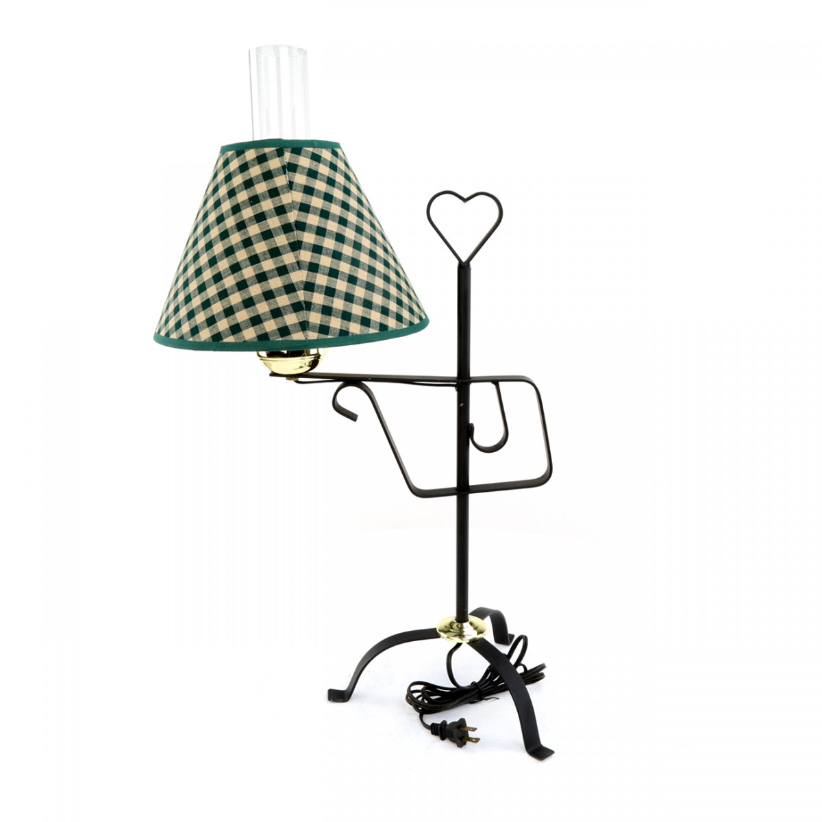 Table Lamp Black Wrought Iron Table Lamp Green Shade 24 5 H