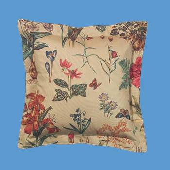 Cotton Botanical Pillow 16 Square Pillows Cotton Pillow Cotton Pillows