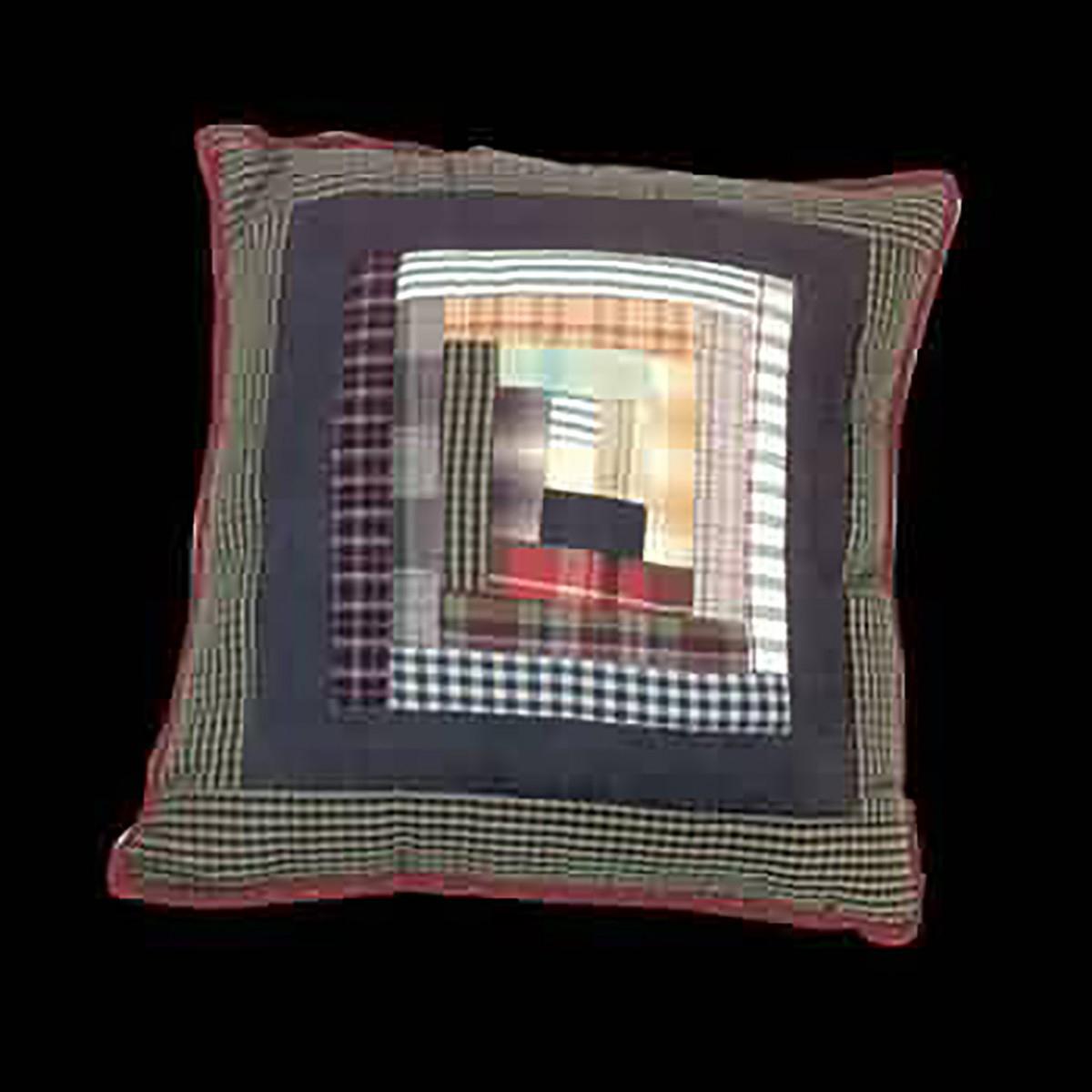 Pillows Quilt Log Cabin Design Pillow Pillows Cotton Pillow Cotton Pillows