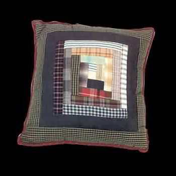 <PRE>Pillows Quilt Log Cabin Design Pillow </PRE>zoom3