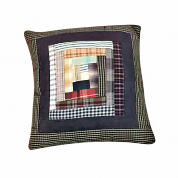 Pillows Quilt Log Cabin Design Pillow 64476grid