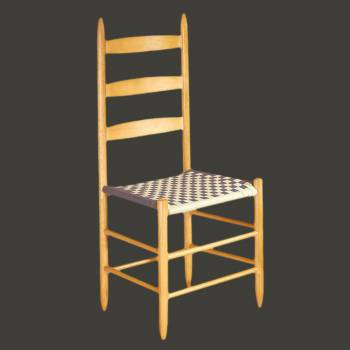 "spec-<PRE>Kitchen Chairs Ladderback Navy Beechwood 42.5"" H </PRE>"