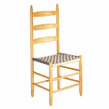 Ladderback Chair Beechwood Navy Tan Cotton Webbing