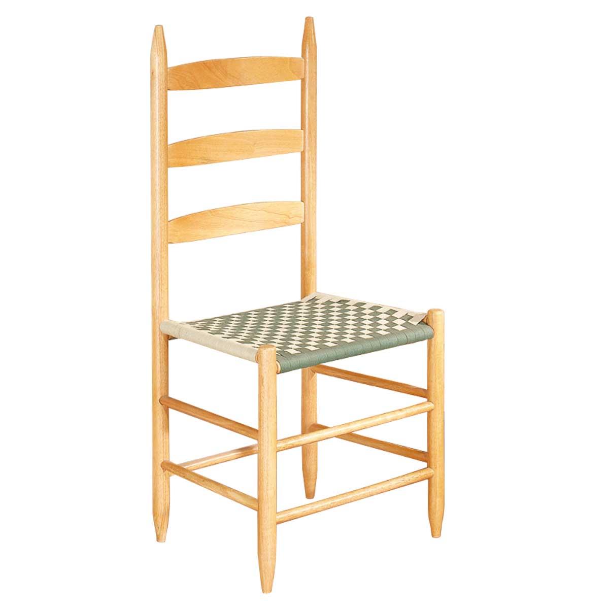 "Kitchen Chairs Ladderback Green Beechwood 42.5"" H"