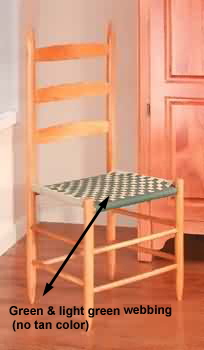 spec-<PRE>Kitchen Chairs Ladderback Green Beechwood 42.5&quot; H </PRE>