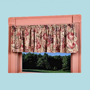"<PRE>Cotton Waverly Valance Khaki Lookout Mountain 79inch x 15.5"" </PRE>zoom2"