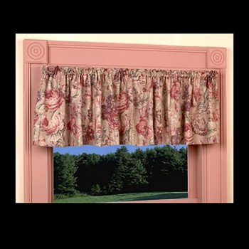 "<PRE>Cotton Waverly Valance Khaki Lookout Mountain 79inch x 15.5"" </PRE>zoom3"
