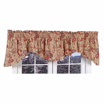 Cotton Waverly Valance Khaki Lookout Mountain 102