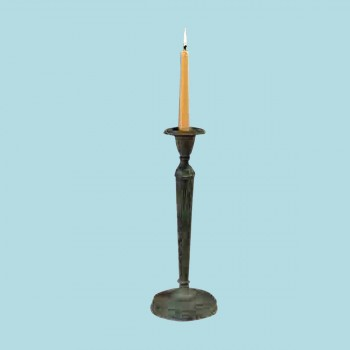<PRE>Solid Brass Candlestick Holder Green 12inchH </PRE>zoom2