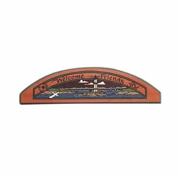 Wood Door Pediment Lighthouse On the Door Plaque 64534grid
