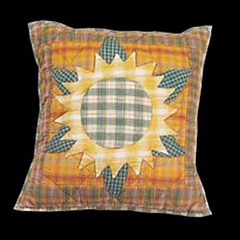 <PRE>Cotton Pillow Yellow Multi Sunflower 16inch Square </PRE>zoom3