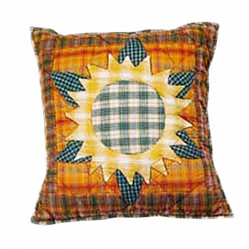 <PRE>Cotton Pillow Yellow Multi Sunflower 16inch Square </PRE>zoom1