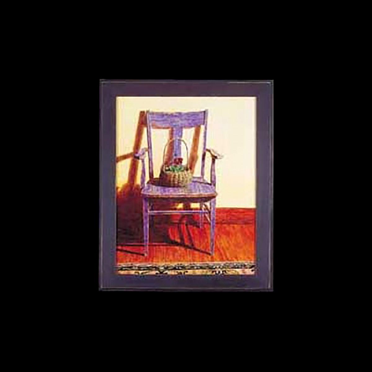 Framed Print Blue Chair 24 x 29.5 Wall Art Wall Prints Framed Art Decoratvie Framed Art