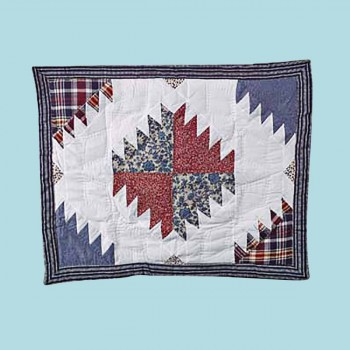 <PRE>Cotton PIllow Sham Red White and Blue </PRE>
