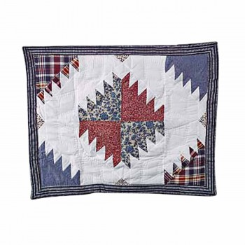 Cotton PIllow Sham Red White and Blue 64601grid
