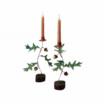 Oak Branch Candle Holder