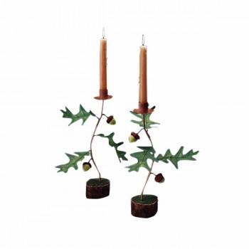 <PRE>Vintage  Acorn Candle Holder Decorative  </PRE>