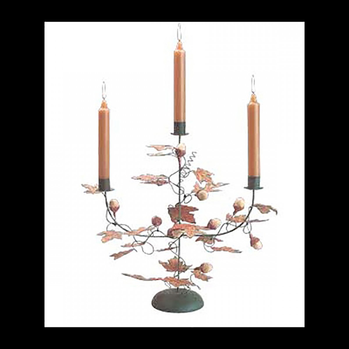 Candle holder Black Wrought Iron Leaf and Acorn Holder Candle Holders Candle Holder Wrought Iron Candle Holders