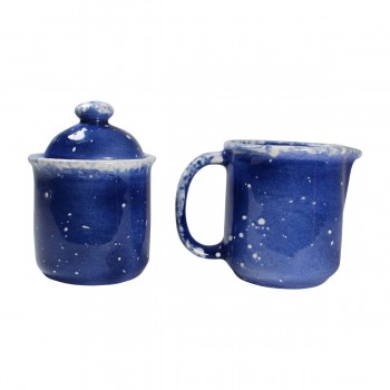 <PRE>Creamer and Sugar Set Snowman Blue Ceramic Debra Kelly </PRE>zoom7