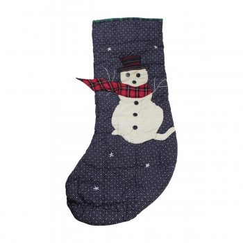 <PRE>Christmas Stockings Blue/Green Cotton 20 3/4inchH x 7 1/2&quot;W </PRE>zoom6