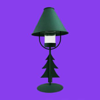 <PRE>Christmas Tree Table Lamp Antique Green Metal </PRE>zoom2