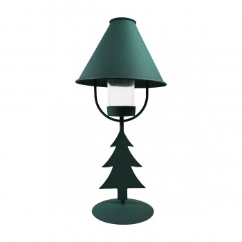 <PRE>Christmas Tree Table Lamp Antique Green Metal </PRE>zoom7