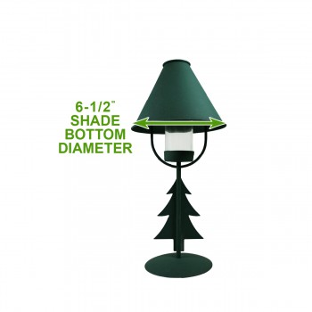 spec-<PRE>Christmas Tree Table Lamp Antique Green Metal </PRE>