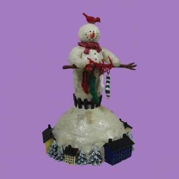 <PRE>Christmas Music Box Winter Wonderland White Plastic 7inchH </PRE>zoom2