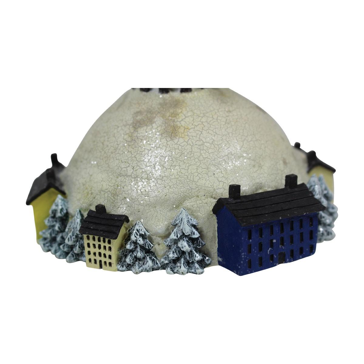 Christmas Music Box Winter Wonderland White Plastic 7H Christmas Music Box Snow Man Music Box Christmas Decor