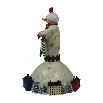 <PRE>Christmas Music Box Winter Wonderland White Plastic 7inchH </PRE>zoom6