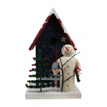 <PRE>Birdhouse Blue Wooden 9inchH x 5 1/2&quot;W </PRE>zoom4