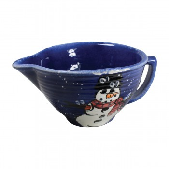 <PRE>Mixing Bowl Snowman Blue Ceramic Debra Kelly </PRE>zoom3
