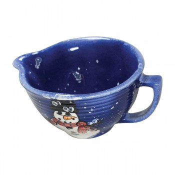 <PRE>Mixing Bowl Snowman Blue Ceramic Debra Kelly </PRE>zoom4