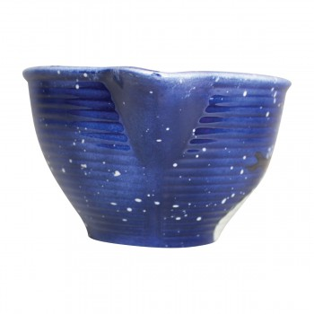 <PRE>Mixing Bowl Snowman Blue Ceramic Debra Kelly </PRE>zoom5