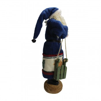 <PRE>Santa Sled Blue Wooden Sled 16&quot;H </PRE>