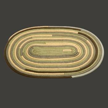 <PRE>Oval Area Rug 3' x 2' Yellow Wool </PRE>zoom2