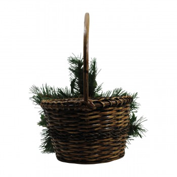 Decorative Basket Brown Wicker 16H Wall Decor Wall Decorations Wall Decoration