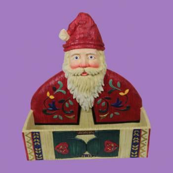 Greeting Card Holder Santa Holiday RedWhite Holder Card Holder Card Holders Christmas Card Holder
