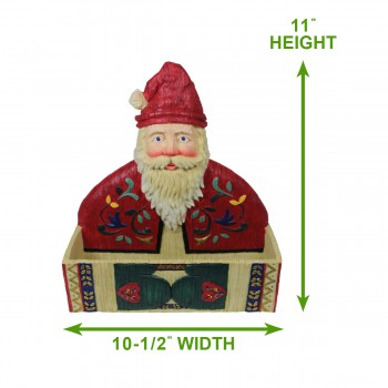 spec-<PRE>Greeting Card Holder Santa Holiday Red/White Holder </PRE>