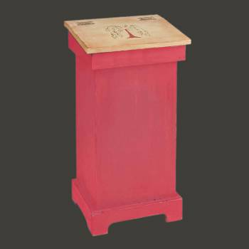 spec-<PRE>Kitchen Storage Red/Nature Wood Tree of Life Bin 25.5&quot; x 20&quot;</PRE>